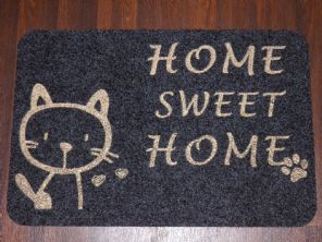 NON SLIP CATS DOORMATS 40X60CM RUBBER BACKING GOOD QUALITY ALL COLOURS GREYS